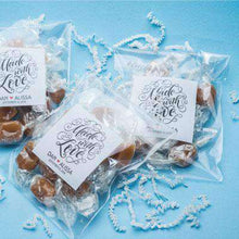 Load image into Gallery viewer, Personalized 12 Piece Caramel Favors-Gourmet Wedding Gifts Personalized custom party favors and corporate event gifts