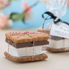 Load image into Gallery viewer, Personalized Artisan Heart S'mores Gift Bags-Gourmet Wedding Gifts Personalized custom party favors and corporate event gifts
