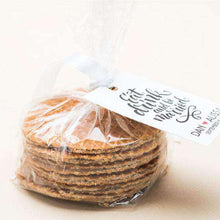 Load image into Gallery viewer, Personalized Stroopwafel Cookie Gift Bag Favors-Gourmet Wedding Gifts Personalized custom party favors and corporate event gifts