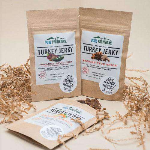 Personalized Small Turkey Jerky Snack Bag Favors-Gourmet Wedding Gifts Personalized custom party favors and corporate event gifts