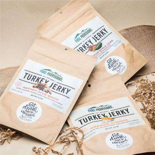 All Natural Turkey Jerky 2.2 oz Snack Bags-Wedding Favors Gourmet Wedding Gifts and edible wedding favors