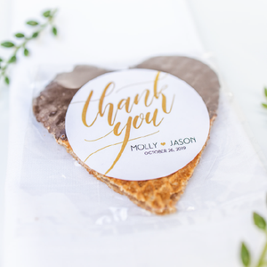 *BEST SELLERS* Custom Stroopwafel Heart Wedding Favors