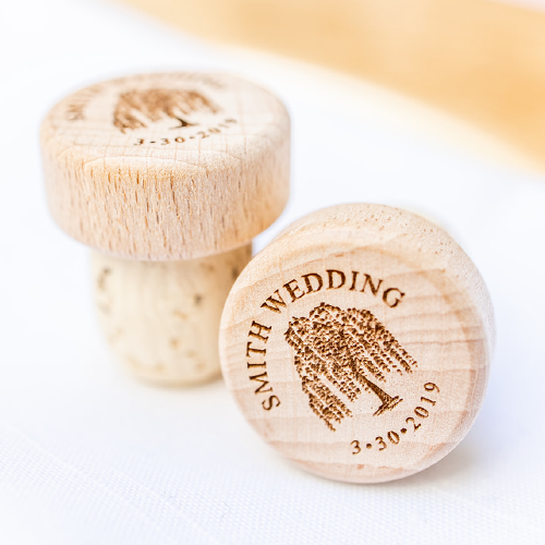 Fully Custom Designed Wine Corks – Rustic Party Favors-Gourmet Wedding Gifts and Wedding Favors for guests