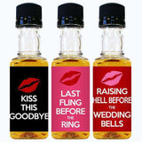Wedding Mini Bottle Labels - Bachelorette Design-Wedding Favors Gourmet Wedding Gifts and edible wedding favors
