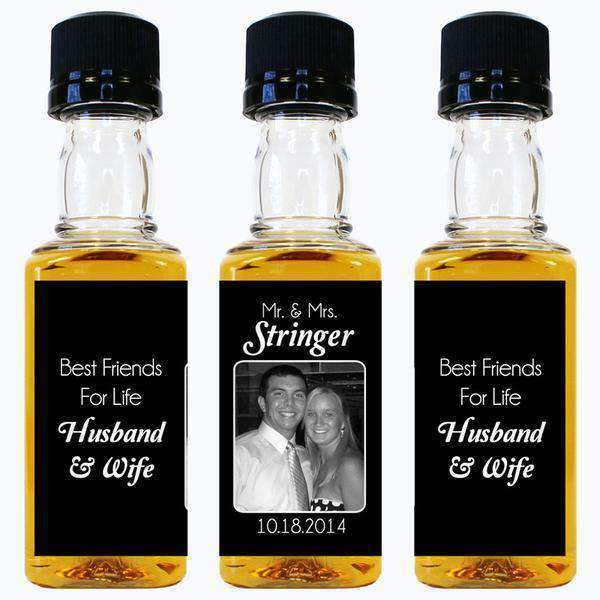 Wedding Mini Bottle Labels - Best Friends for Life Photo Design-Wedding Favors Gourmet Wedding Gifts and edible wedding favors