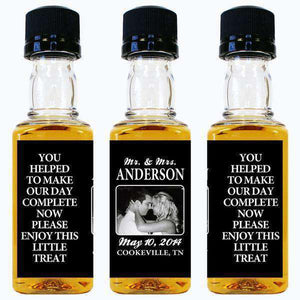 Personalized Wedding Mini Liquor Bottles - Enjoy This Little Treat Photo Design