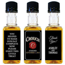 Load image into Gallery viewer, Personalized Wedding Mini Liquor Bottles - Wax Seal Design