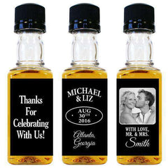 Wedding Mini Bottle Labels - With Love, Mr. & Mrs. Design-Wedding Favors Gourmet Wedding Gifts and edible wedding favors