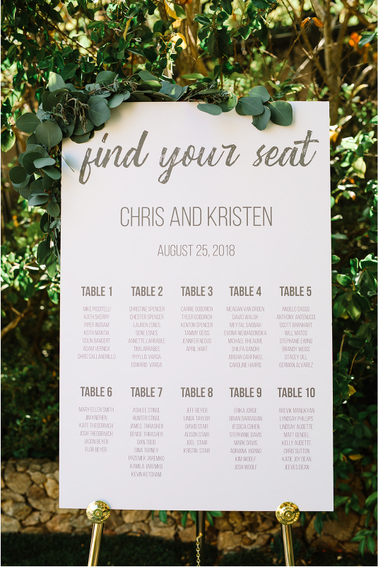Custom Wedding Sign Design
