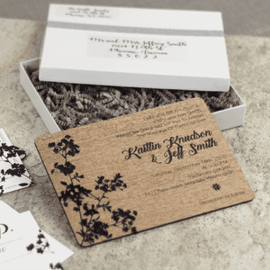 Personalized and Addressed Wedding Invitation Boxes