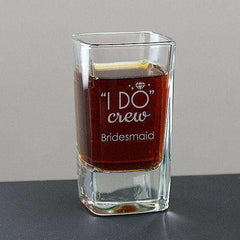 "Personalized ""I Do Crew"" Shot Glass-Drinkware Gourmet Wedding Gifts and edible wedding favors"