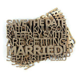 Custom Laser Cut Wooden Save the Dates-Invitations Gourmet Wedding Gifts and edible wedding favors