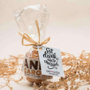 Personalized 2 Piece Mini Macaroon Favors-Gourmet Wedding Gifts Personalized custom party favors and corporate event gifts