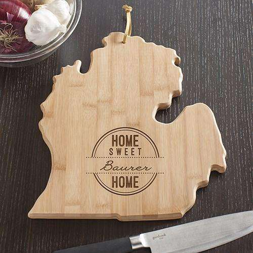 Personalized Michigan Home State Cutting Board-Cutting Boards Gourmet Wedding Gifts and edible wedding favors