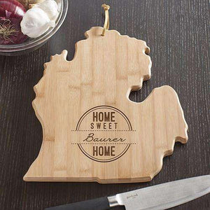Personalized Michigan State Wood Cutting Board-Gourmet Wedding Gifts Personalized custom party favors and corporate event gifts