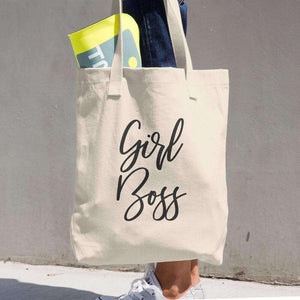"Premium Denim Cotton ""Girl Boss"" Tote Bag"