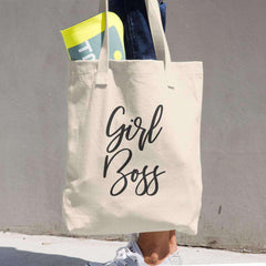 "Premium Denim Cotton ""Girl Boss"" Tote Bag-Tote Bag Gourmet Wedding Gifts and edible wedding favors"