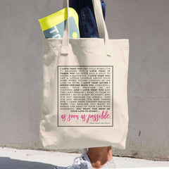 """When Harry Met Sally"" Quote Denim Cotton Tote Bag-Tote Bag Gourmet Wedding Gifts and edible wedding favors"