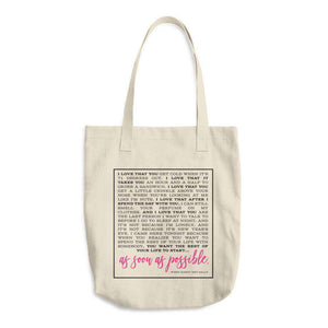 """When Harry Met Sally"" Denim Cotton Tote Bag-Gourmet Wedding Gifts Personalized custom party favors and corporate event gifts"