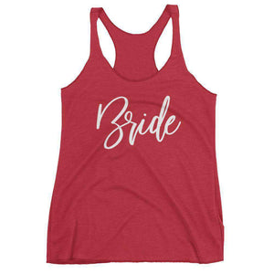 """Bride"" Racerback Tank Top-Gourmet Wedding Gifts Personalized custom party favors and corporate event gifts"