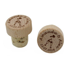 Load image into Gallery viewer, Personalized Wine Stoppers 50 Pieces Laser Cork Bottle Toppers Gift