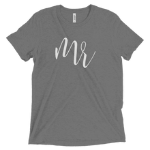 "Load image into Gallery viewer, Men's ""Mr"" T Shirt - Elegant Script-Gourmet Wedding Gifts Personalized custom party favors and corporate event gifts"