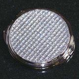 Personalized Bridesmaids Crystal Compact Mirror-Compact Mirror Gourmet Wedding Gifts and edible wedding favors