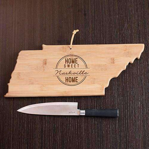 Personalized Tennessee State Wood Cutting Board-Gourmet Wedding Gifts and Wedding Favors for guests