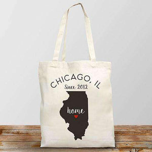 Personalized Home State Tote Bag (All 50 States)-Gourmet Wedding Gifts Personalized custom party favors and corporate event gifts