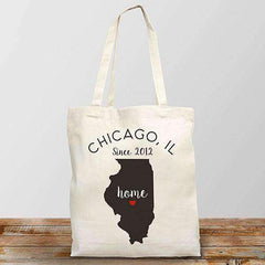 Personalized Home State Tote Bag-Tote Bag Gourmet Wedding Gifts and edible wedding favors