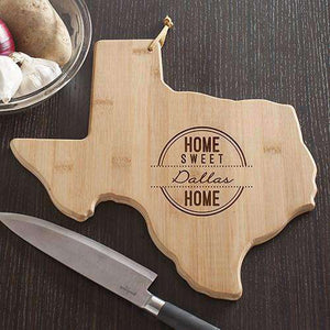 Personalized Texas State Wood Cutting Board