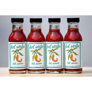 Organic Hot Winter Hot Sauce (12 pack of 6 oz bottles)