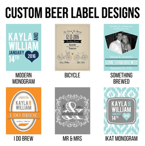 Personalized Beer Bottle Labels-Gourmet Wedding Gifts and Wedding Favors for guests