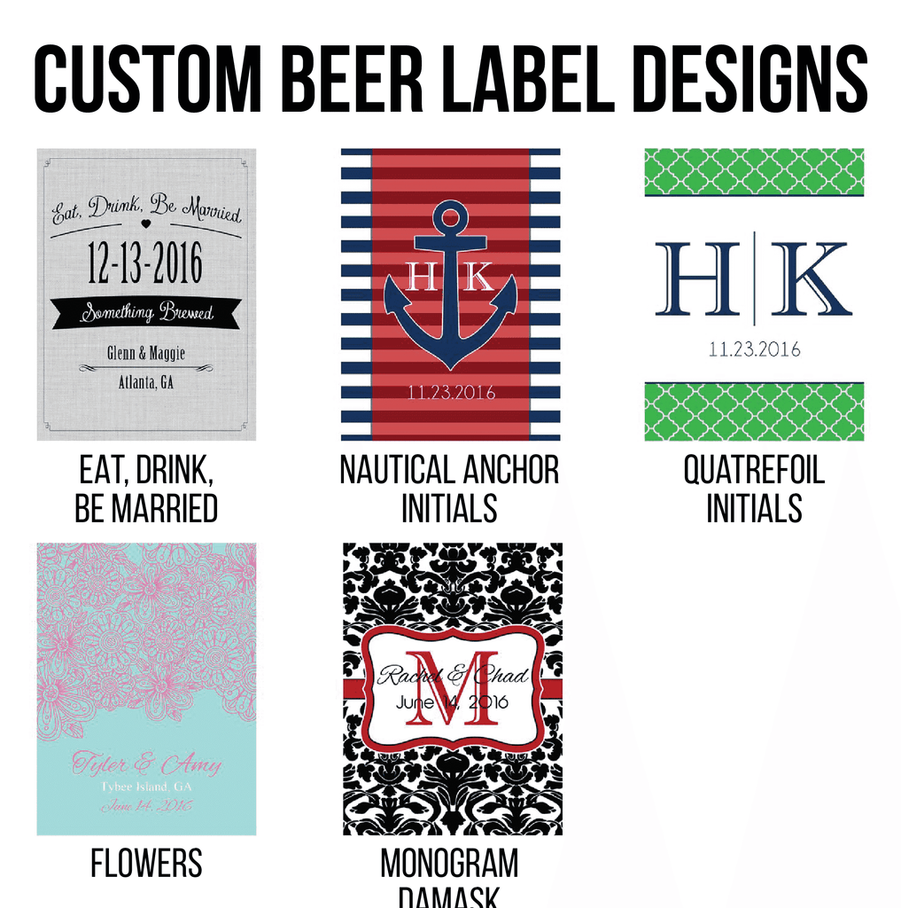 Personalized beer bottle wedding labels | Gourmet Wedding Gifts