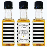 Personalized Wedding Mini Spirit/Sauce Bottles-Wedding Favors Gourmet Wedding Gifts and edible wedding favors