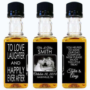 Personalized Mini Bottles - Photo Design-Gourmet Wedding Gifts Personalized custom party favors and corporate event gifts