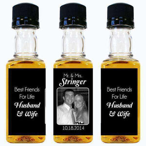 Personalized Mini Liquor Bottles - Photo Design-Gourmet Wedding Gifts and Wedding Favors for guests