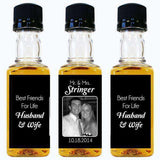 Personalized Wedding Mini Spirit/Sauce Bottles - Photo Label Designs-Gourmet Edible Wedding Gifts and Wedding Favors