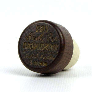 "Personalized Wine Corks - ""Eat Drink and Be Married"" Design"
