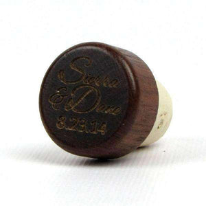 "Personalized Wine Corks - ""Script Names and Date"" Design"