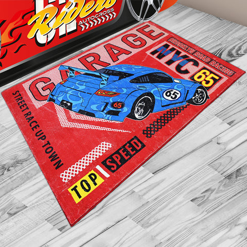 Oliandola 120x180cm Garage NYC Rug Matching Kids Racing Car Bed Model #8006r