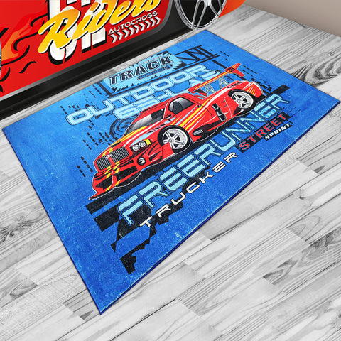 Oliandola 120x180cm Outdoor 65Lab Rug Matching Kids Racing Car Bed Model #8006b