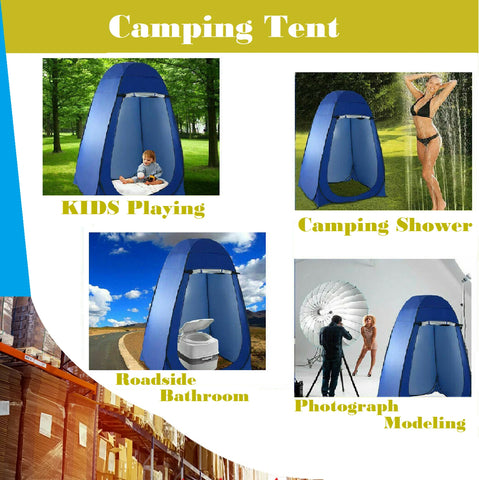 Portable Pop Up Outdoor Camping Shower Tent with CarryBag Privacy Change Room