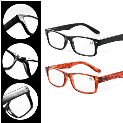 6 Pair Mens Ladies Wayfarer Frame Magnifying Reading Glasses Nerd Spectacle +1.0~+4.0