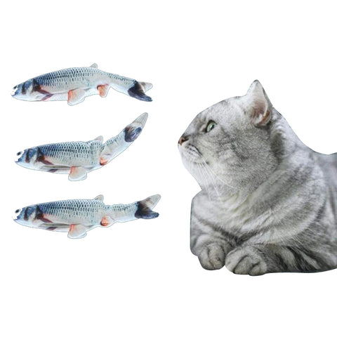 Electric Fish Cat Toy Wagging Fish Realistic Plush Simulation Catnip