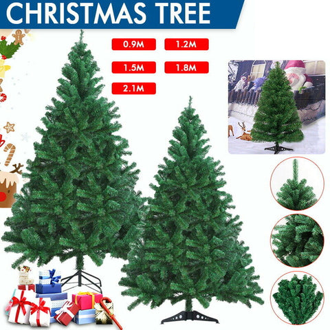 2020 Christmas Tree 0.9/1.2/1.5/1.8/2.1M Xmas Decoration Green Home Decor Gifts