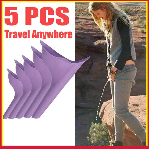 Portable Camping Female Her She Urinal Funnel Woman Urine Wee Loo Travel Bulk 5x