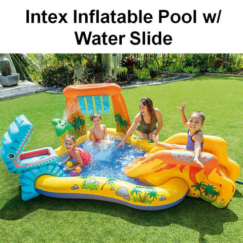 Intex Inflatable Water Slide Water Spray Kids Play Centre Pool Dinosaur Pool Toy