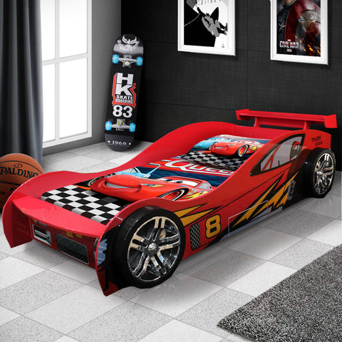 New Model McLaren Kids Children Racing Car Night Bed For Boy With Drawer in Red #1156r
