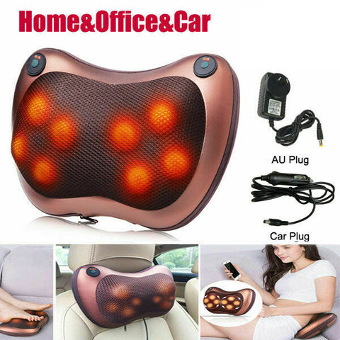 2020 NEW 8 Drives Shiatsu Massager Body Back Massage Pillow Cushion Neck Car